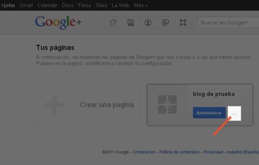 Borrar pagina Google+ -punto2